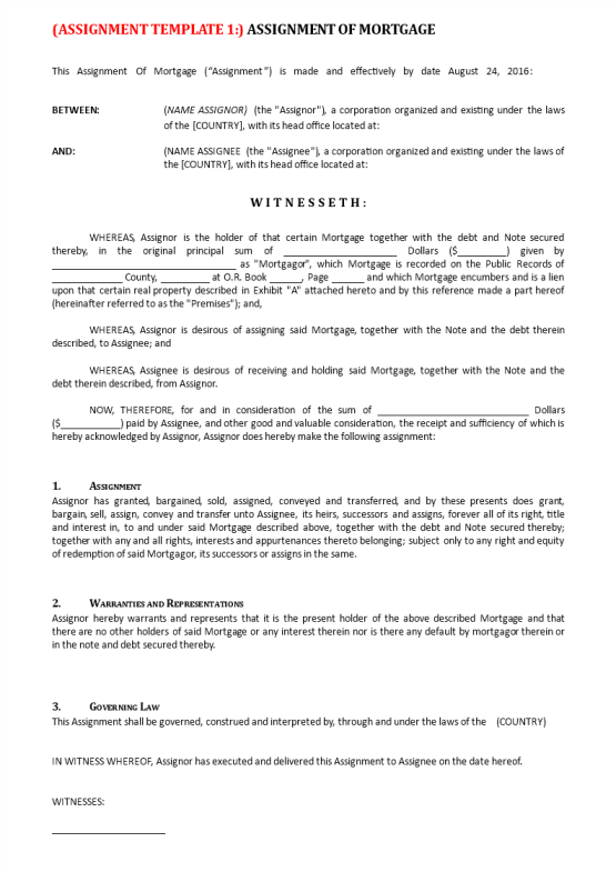image Mortgage Agreement Template
