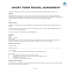 template topic preview image Short Term Rental Agreement