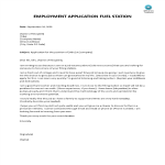 template topic preview image Fuel Station Employment Application Letter