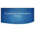 template topic preview image Expository Informative Essay