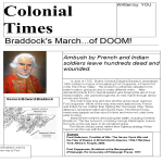 template topic preview image Colonial Newspaper