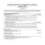 template topic preview image Food Service Worker