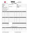 template topic preview image Blank Call Sheet