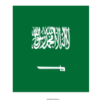 template topic preview image Saudi Arabia printable flag