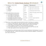 template topic preview image Ideas for Child Body Outline Worksheet