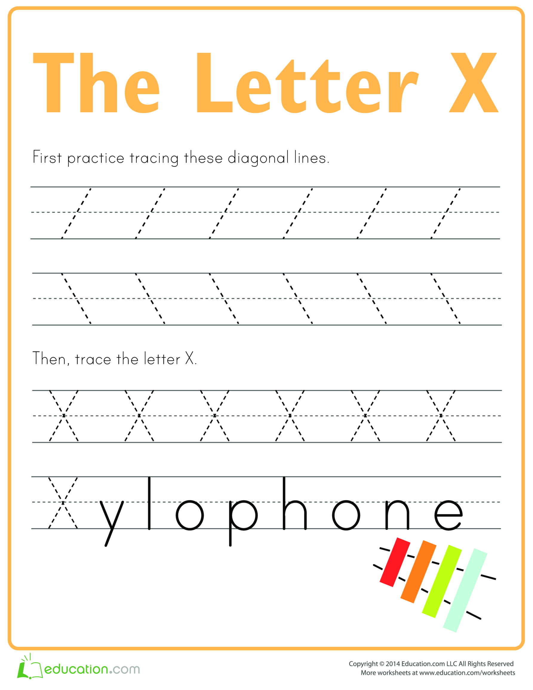 template topic preview image Learn to write letter X