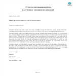 template topic preview image Electro-Engineer Letter Of Recommendation