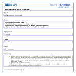 template topic preview image English Daily Lesson Plan