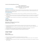 template topic preview image Commercial Banking Manager Resume sample