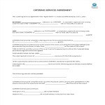 image Catering Services Agreement