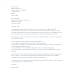 template topic preview image HR Administrator Application Letter