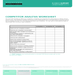 template topic preview image Competitor Analysis Worksheet