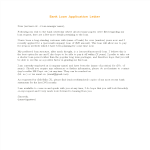 template preview imageBank Loan Application Letter sample
