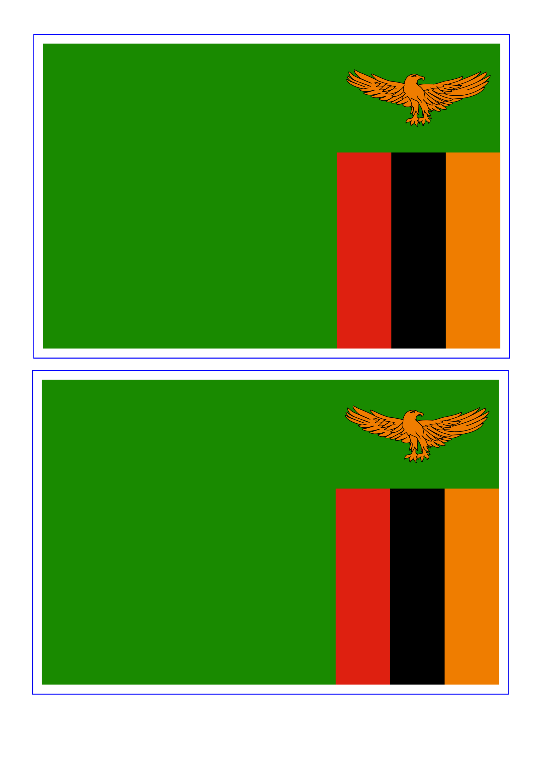 template topic preview image Zambia Printable Flag template