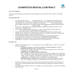 template topic preview image Dumpster Rental Contract