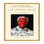 template topic preview image Nelson Mandela Funeral Memorial Service Program