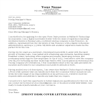 template preview imageFront Desk Cover Letter Sample