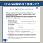 image Housing Rental Lease Agreement