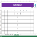template preview imageMath T-Chart template