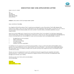 template topic preview image Job Application Letter For Executive Chef