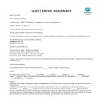 template topic preview image VRBO Shortterm Rent Agreement with Tenant