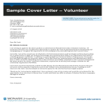 template topic preview image Job Application Letter For Volunteer Co Ordinator