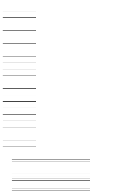 template topic preview image Music Staff Sheet 10 lines with notes