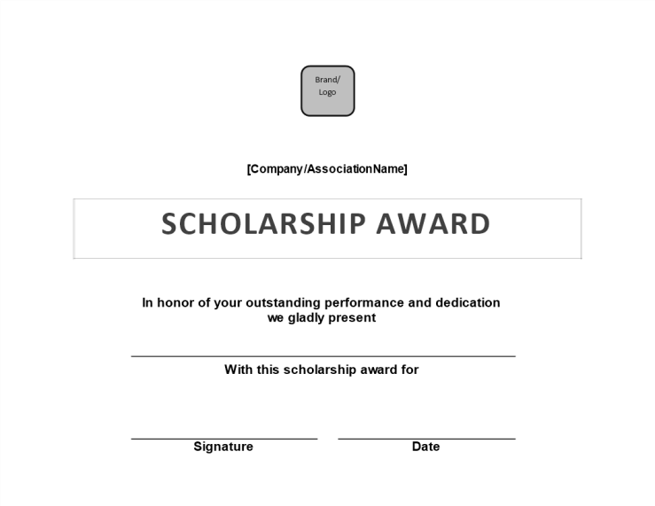 template topic preview image Scholarship Award Certificate