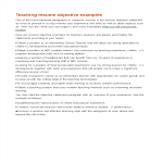 template topic preview image Teacher Resume Career Objective
