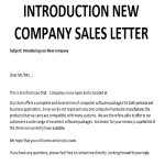 image Introducing New Company Sales Letter