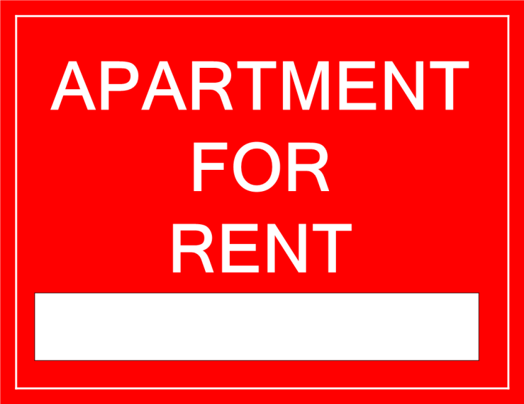 template topic preview image For Rent Sign Apartment
