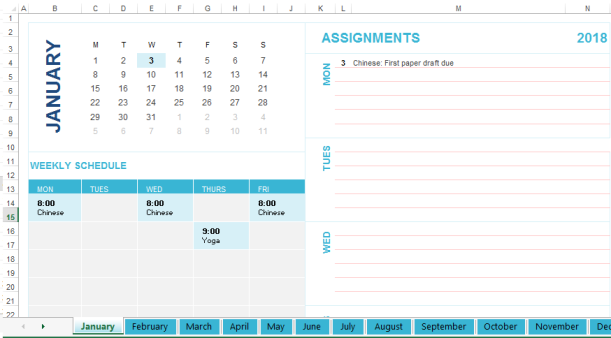 template preview imageWeekly personal planner template