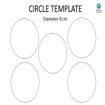 template topic preview image Circle template A4  8CM