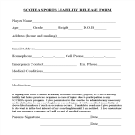 template topic preview image Sports Liability Release Form