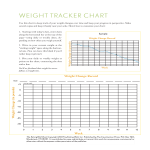 template topic preview image Weekly Weight Loss Tracking Chart