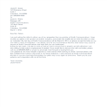 template topic preview image Last Minute Notice Resignation Letter