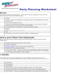 template topic preview image Party Planning Worksheet Checklist