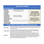 template topic preview image Six Sigma Project Charter Template