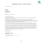 template topic preview image Letter of Intent commercial lease