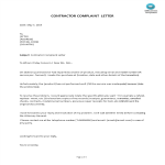 template topic preview image Format Complaint Letter of Contractor Template