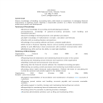 template topic preview image Bank Staff Accountant Resume