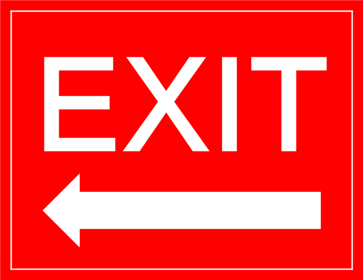 template topic preview image Exit Sign arrow left