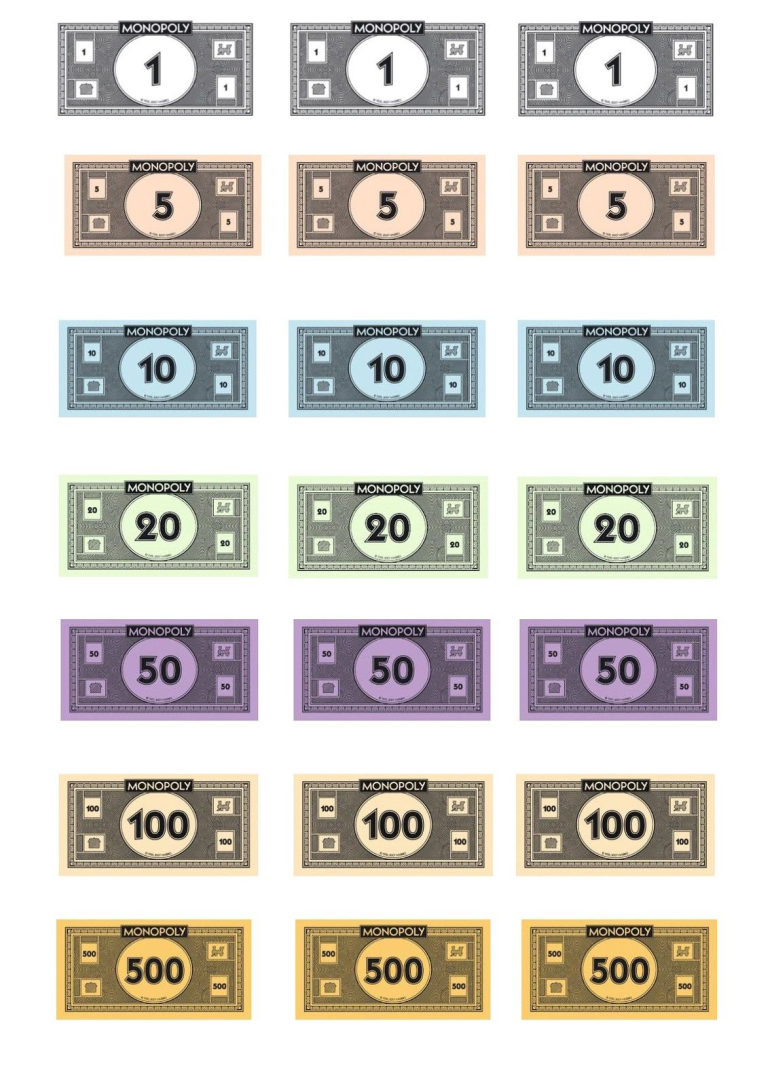 free monopoly money template templates at