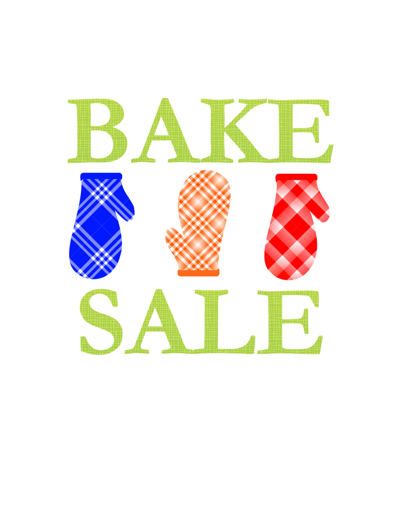 It is a graphic of Luscious Free Printable Bake Sale Signs
