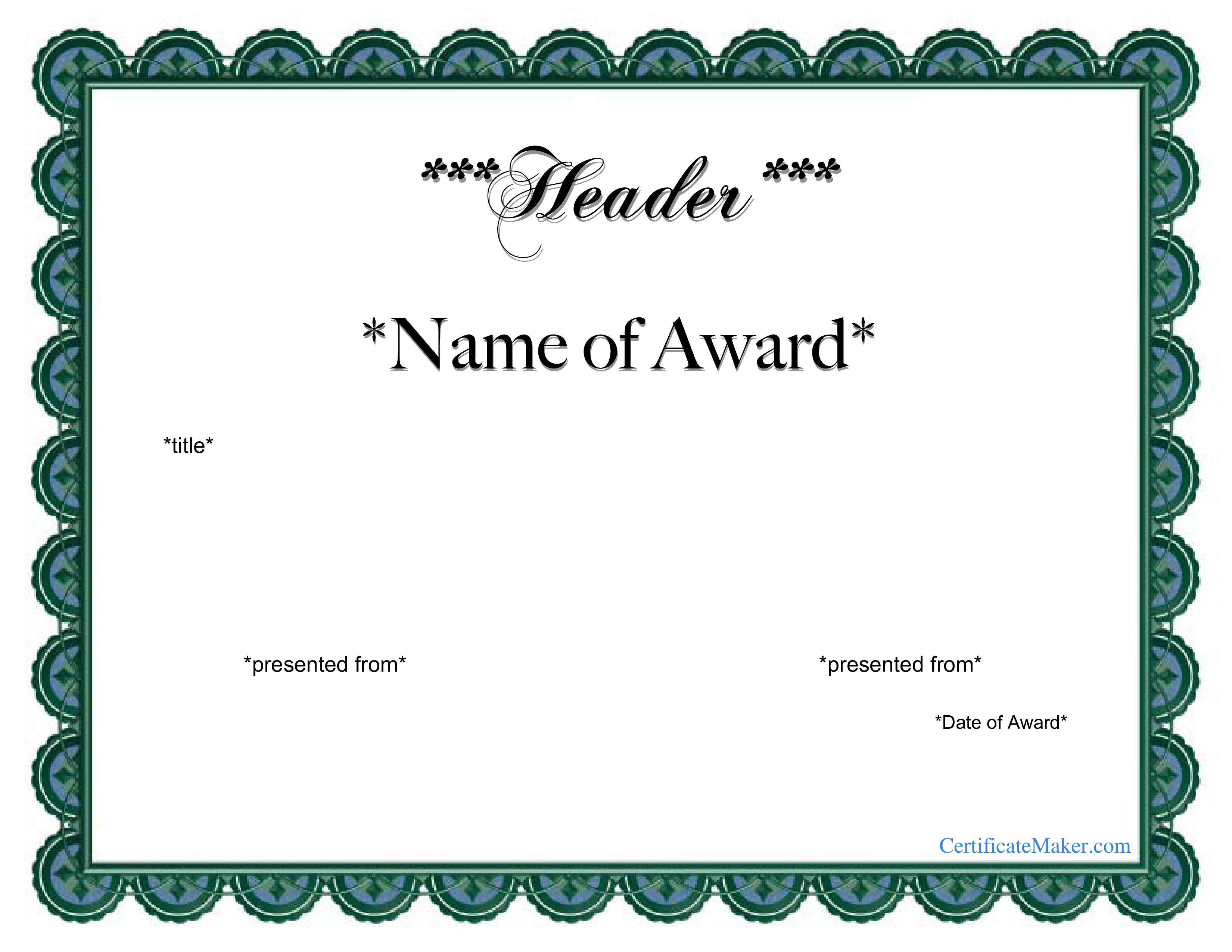 Free Printable Award Certificate Templates At Allbusinesstemplates