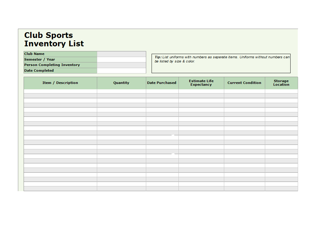 free sample excel inventory templates at