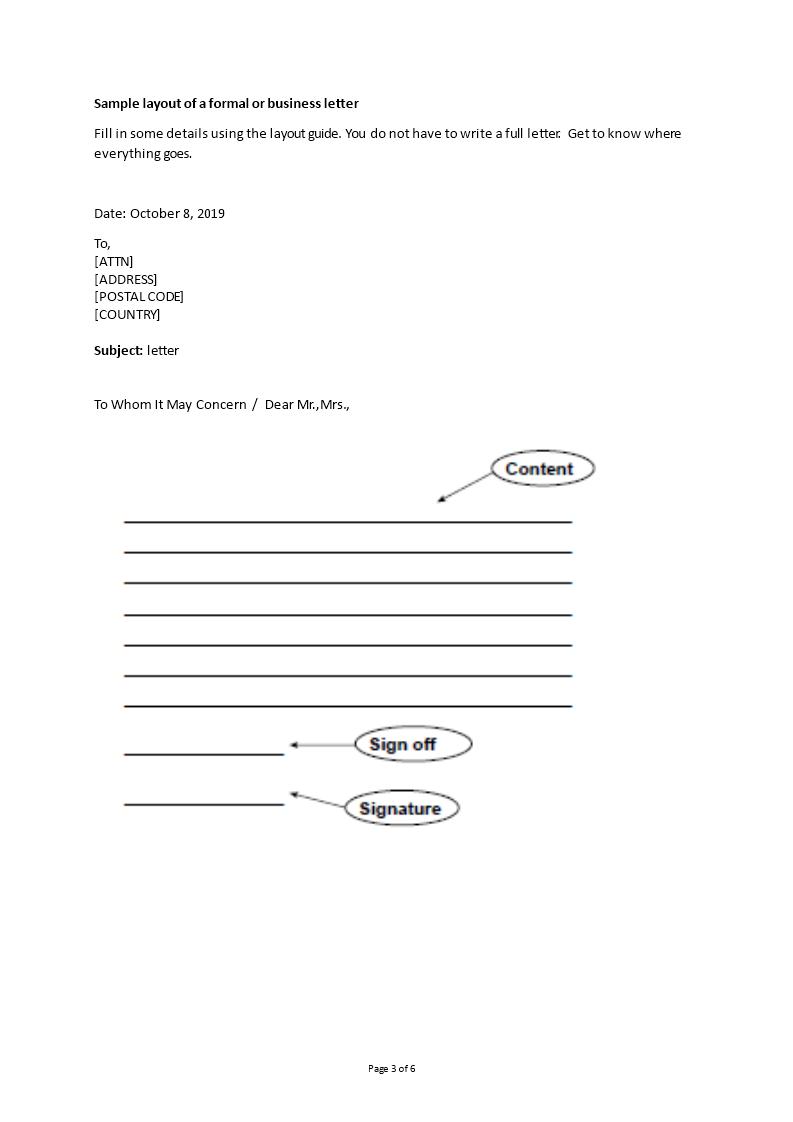 Kostenloses Business Letter Formal Format