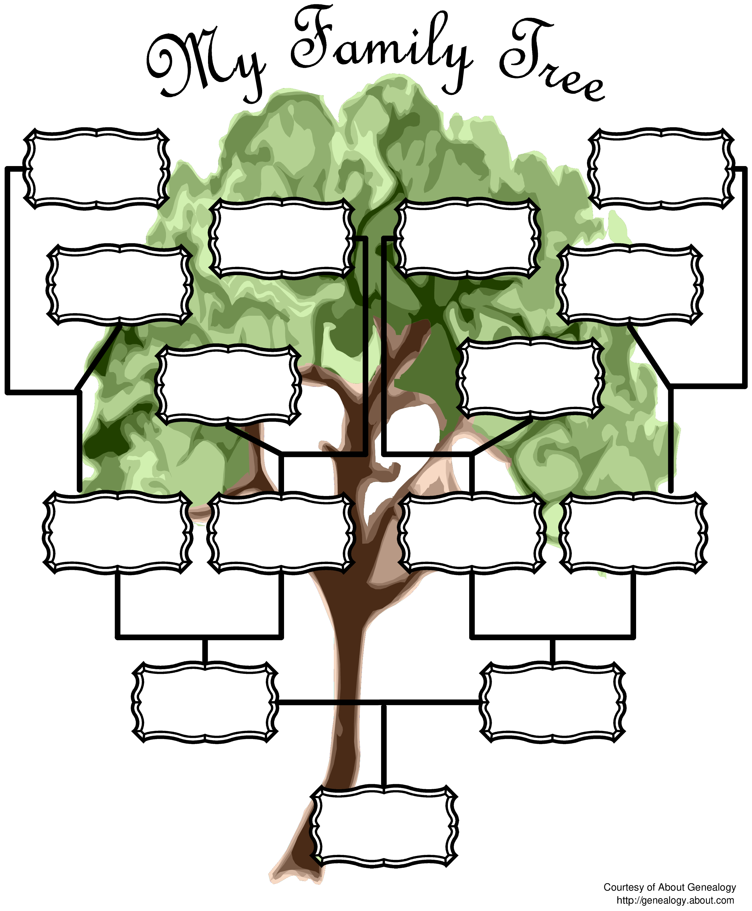 free blank family tree chart templates at