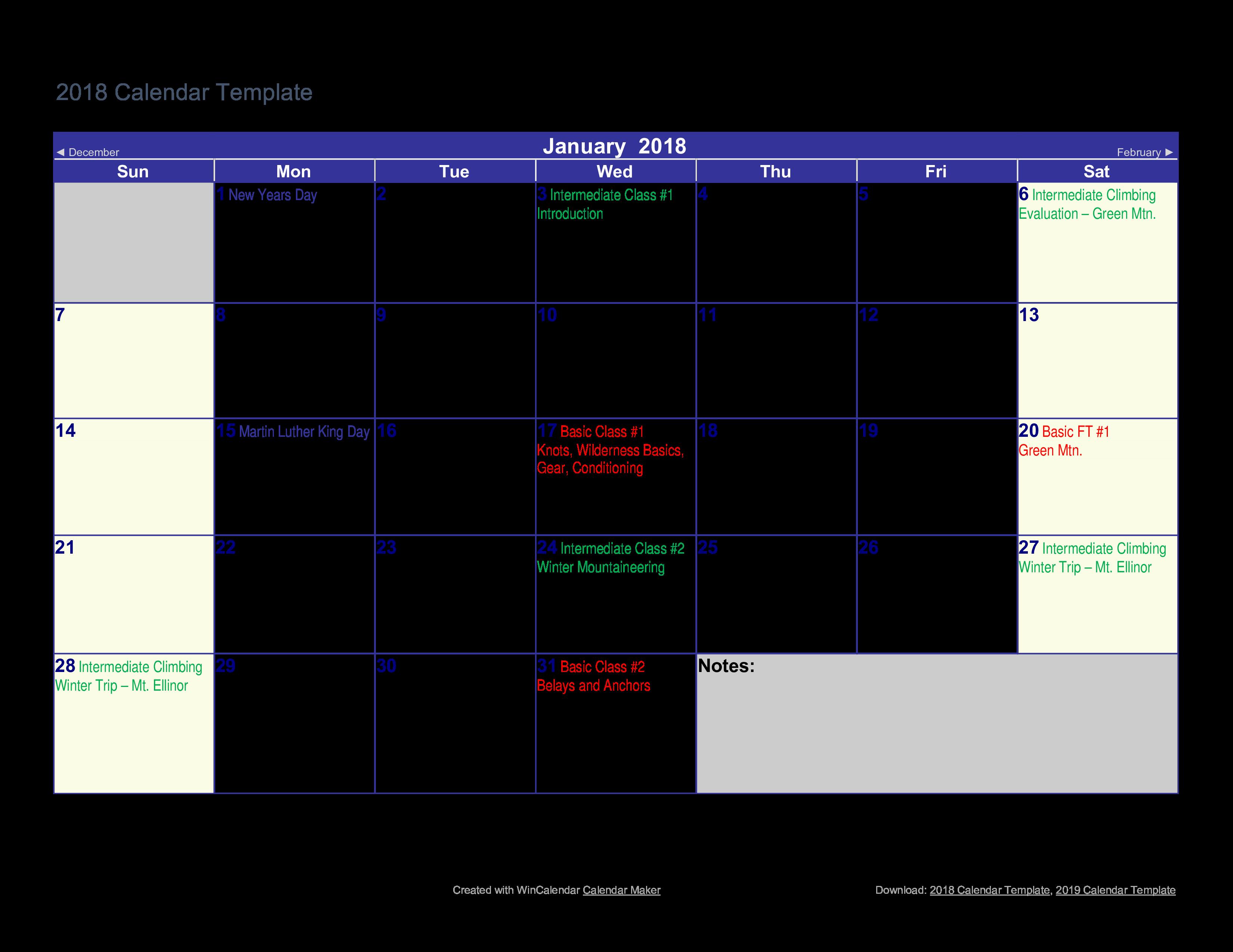 Printable Calendar Sample | Free Printable Calendar Example Templates At Allbusinesstemplates