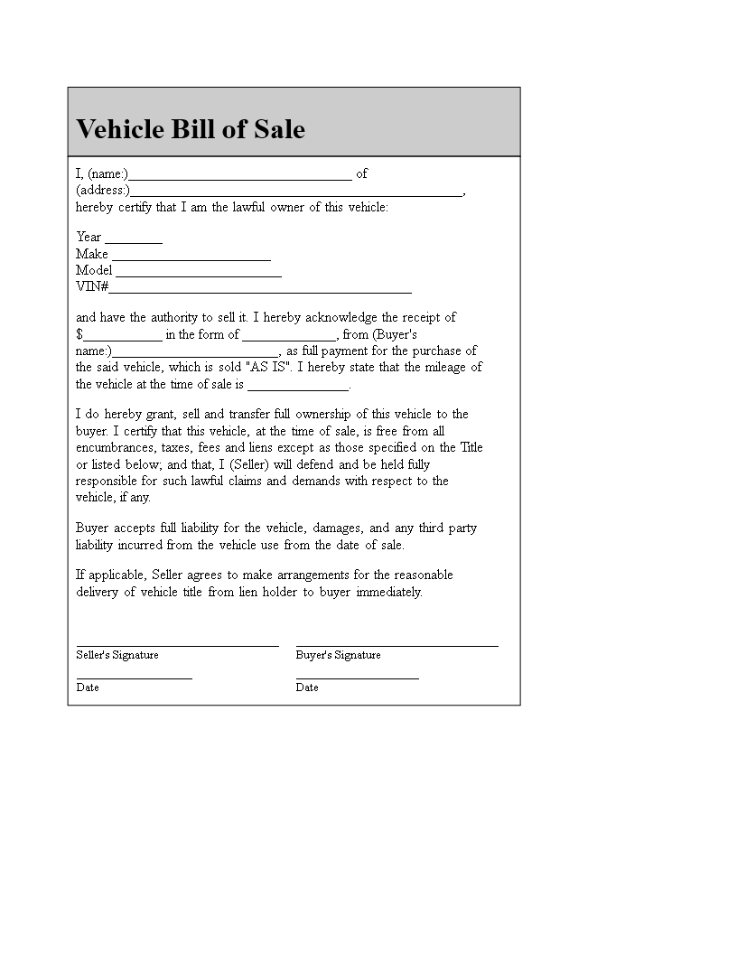 free car sales receipt templates at